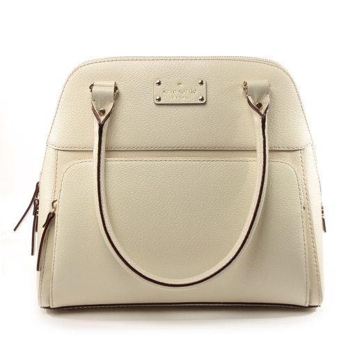 Kate Spade Porcelain Leather Small Maeda Satchel Tote Bag – Wellesley collection