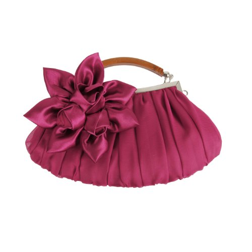 BMC Floral Embellish Sheer Chiffon Exterior Party Clutch-Evening Out Collection