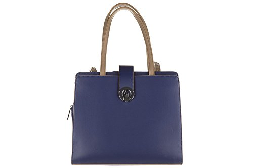 Armani Jeans women's handbag shopping bag purse blu