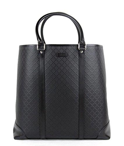 Gucci Women's Black Diamante Leather Tote Business Handbag 223668 1000