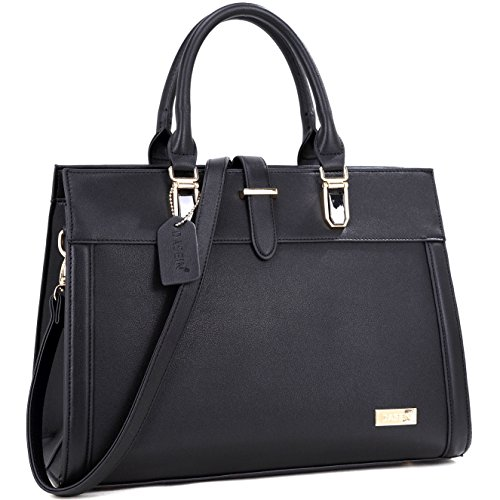 Dasein Faux Leather Work Satchel Shoulder Bag