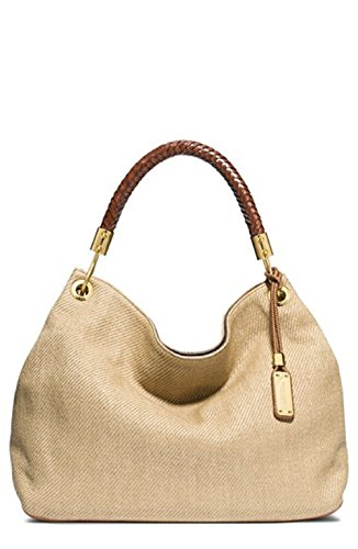 Michael Kors – Skorpios Large Shoulder Bag Woven (Luggage) Hobo Handbags