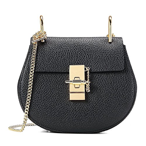 Eonjoy Fashion Women Genuine Cow Leather Purse Valentine Chain bag Shoulder & Cross Body Bags