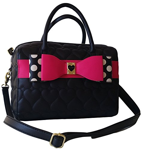 Betsey Johnson Satchel – Pink – Polka Dot Bow – BM19155