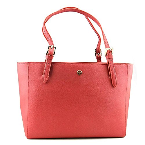 Tory Burch York Small Buckle Women Leather Red Tote NWT