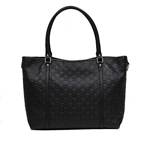 Gucci Black Guccissima Leather Shoulder Tote Handbag 265695