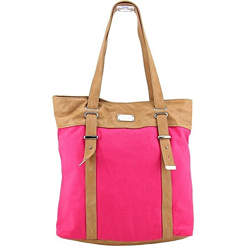 Nine West Sasha Women Canvas Pink Tote NWT