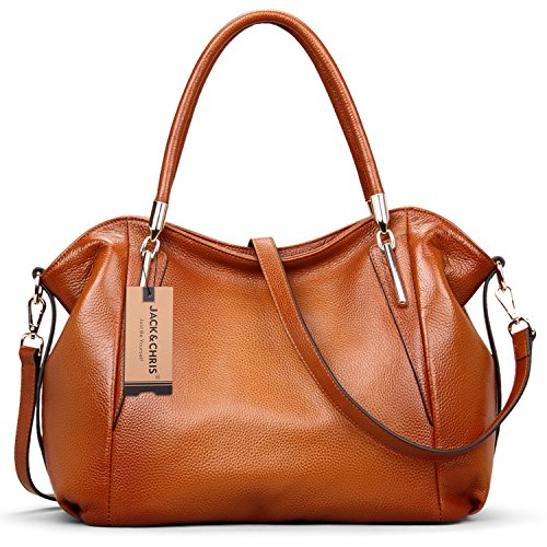Jack&Chris® Vintage Women Genuine Leather Shoulder Bag Top-handle Tote, WBDZ023