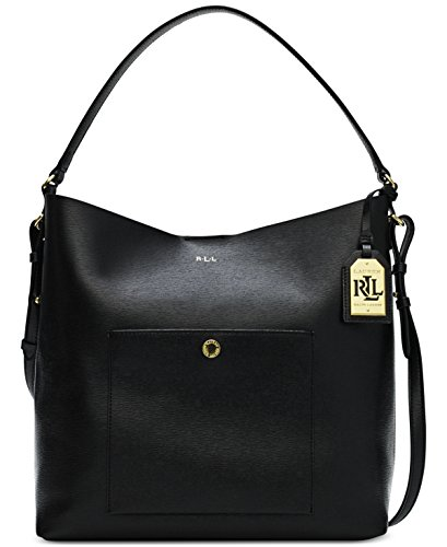 LAUREN Ralph Lauren Newbury Pocket Hobo Black Hobo Handbags