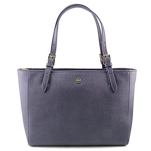 Tory Burch York Small Buckle Women Leather Blue Tote NWT