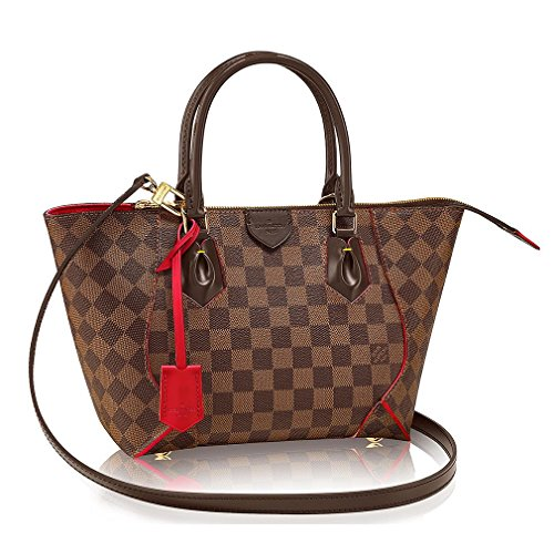 Authentic Louis Vuitton Damier Caissa Tote PM Handbag Article:N41551 Cherry Made in France