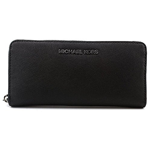 Michael Kors Jet Set Travel Zip Around Continental Saffiano Leather Wallet