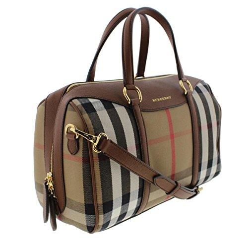 Burberry Womens Alchester House Check Derby Bowler Handbag