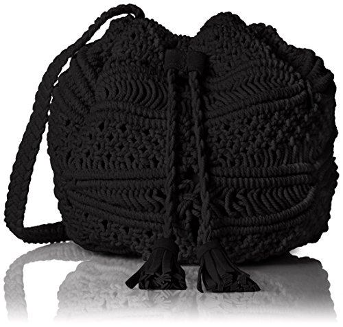 BCBGeneration Woven Bucket Bag with Drawstring