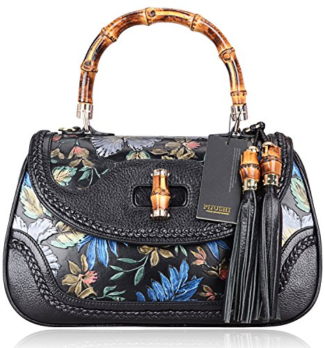 Pijushi 6029 Classic Ladies Handmade Luxury Leather Satchel Bag Women's Top-handle Handbags