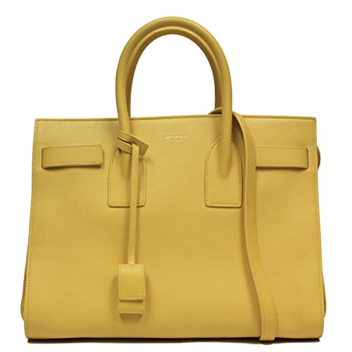 Saint Laurent Yellow Leather Classic Small Sac De Jour Satchel Bag 324823