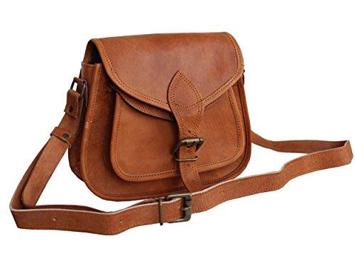 LUST Leather Women's Hippe Leather Purse Crossbody Shoulder Bag Travel Satchel Handbag Ipad Bag 9″ x 7″