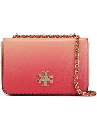 Tory Burch Mercer Ombre Adjustable Shoulder Bag Spiced Pink Coral Degrade Handbag