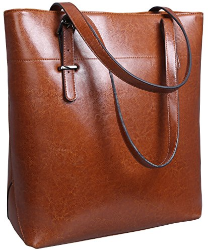 Iswee Womens Leather Tote Bag Shoulder Bags Handbags Purse