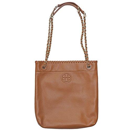 Tory Burch Marion Bookbag Shoulder Bag Crossbody Leather TB Logo Bark