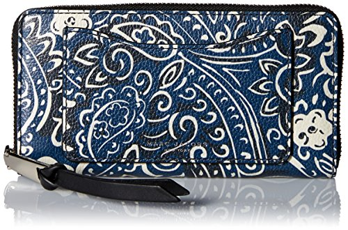 Marc Jacobs Recruit Paisley Continental Wallet, Rail Blue Multi, One Size