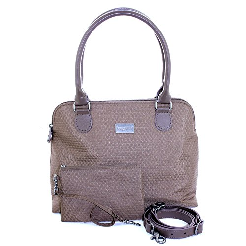 Baggallini Natalie Uptown Satchel Handbag (Bark Brown)