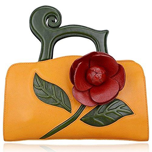 Pijushi Designer Inspired Ladies Handmade Leather Tote Shoulder Satchel Handbags 8859