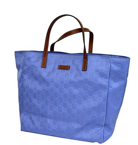 Gucci Guccissima Blue Nylon Tote Handbag 282439/4363
