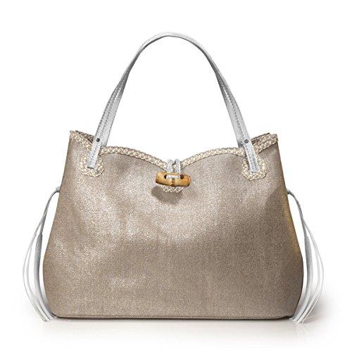 Eric Javits Women's Tuti Shopper Handbag One Size (Silver)