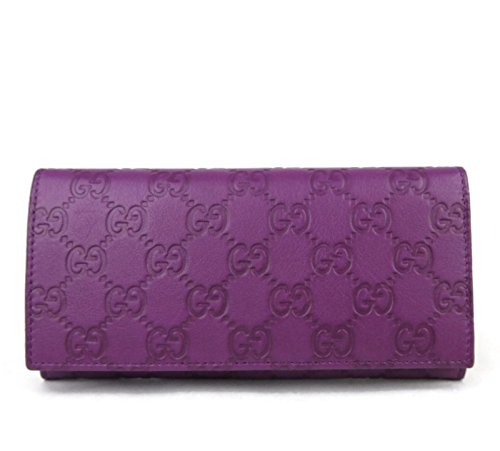 Gucci Women's Purple Guccissima Leather Wallet Coin Pocket Clutch 305282 5526