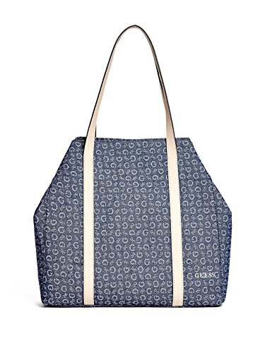 GUESS Women's Abitha Denim Tote