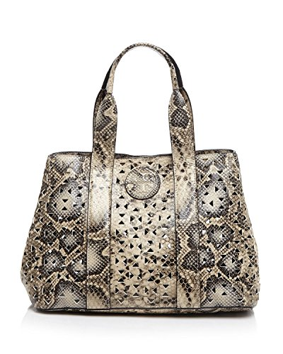 Tory Burch Animal Tote Bloomingdale's Exclusive Ella Perforated Snake-embossed Mini Bag