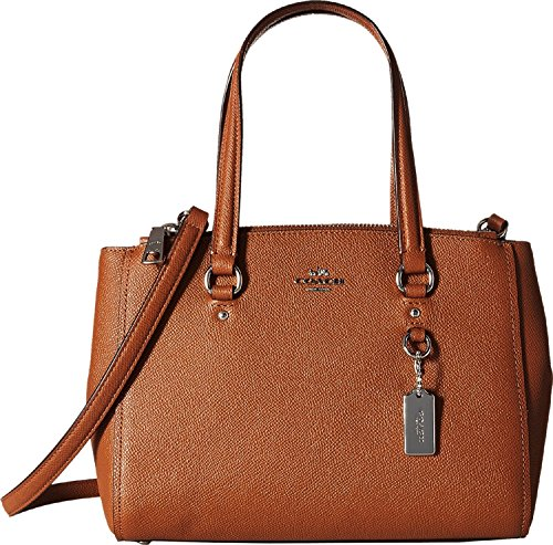 COACH Women's Crossgrain Update Stanton 26 SV/Saddle Satchel