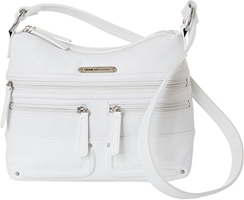 Stone Mountain Emmy Hobo Solid Handbag One Size White