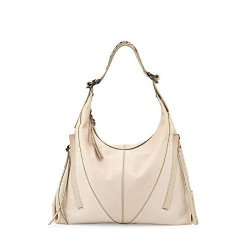 Kooba Womens Mickey Leather Cutwork Strap Hobo Handbag