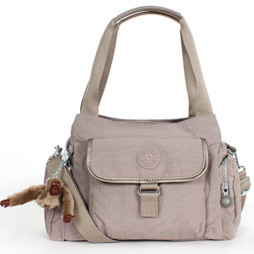 Kipling Felix (Fairfax) L Shoulder Bag Crossbody Natural Beige Dusk DRY Comb