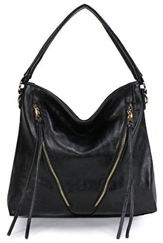 Scarleton Chic Front Zipper Hobo Bag H1883