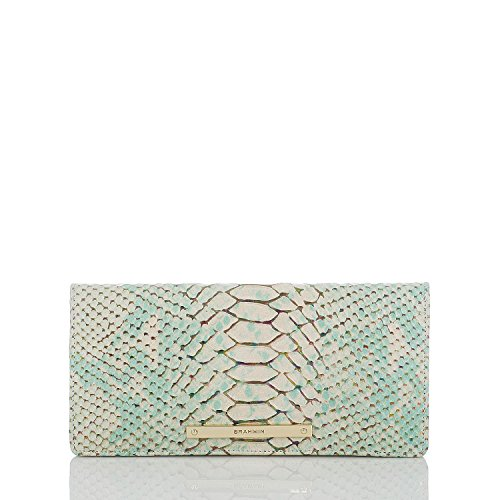 Brahmin Slim Ady Wallet Opal Seville Python Emb Leather