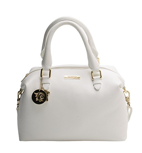 Versace Collection Women Leather Shoulder Handbag White