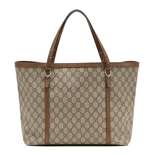 Gucci Nice GG Supreme Canvas and Leather Tote Bag 309613