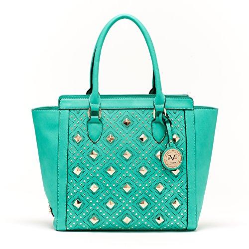 V1969 Italia Womens Designer Veronika Mint Leaf Tote Handbag by VERSACE19.69 ABBIGLIAMENTO SPORTIVO SRL