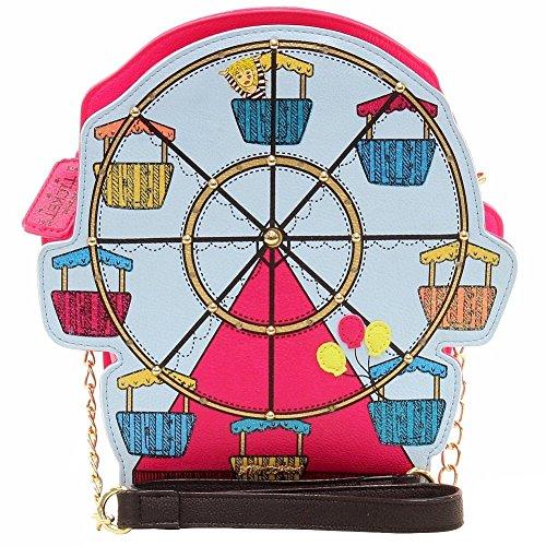 Betsey Johnson Women's Kitsch Multi Ferris Wheel Crossbody Handbag
