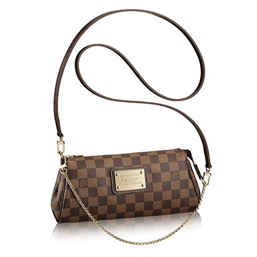 Authentic Louis Vuitton Damier Canvas Eva Clutch Handbag Article: N55213 Made in France
