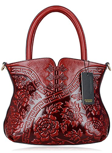 Pijushi Designer Cheongsam Flower Style Lady Tote Handle Handbag Womens Shoulder Bag for All Occasion 22331