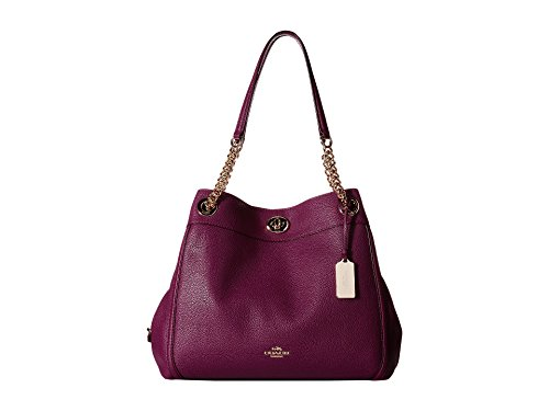 COACH Women's Turnlock Edie LI/Plum Shoulder Bag