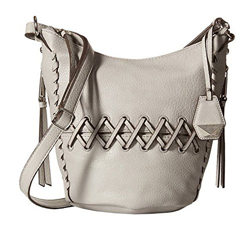Jessica Simpson Tyson Whipstitch Small Hobo Cross Body Handbag, Storm Grey