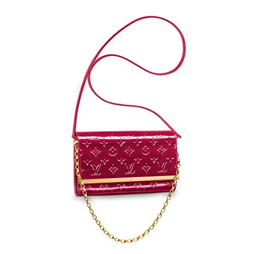 Authentic Louis Vuitton Monogram Vernis Leather Ana Clutch Handbag Article:M90092 Indian Rose Made in France