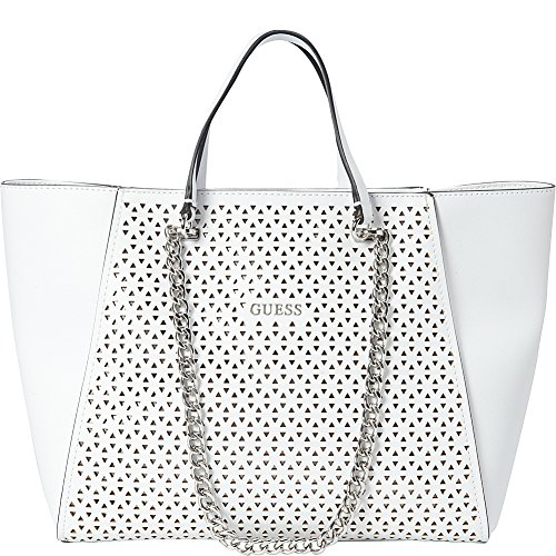 GUESS Nikki Perforated Chain Tote