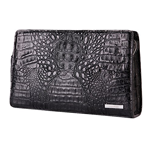 GAVADI Real Crocodole Leather Business Handbag for Men Black G510BK