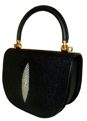 Lola Bk – Genuine Stingray Skin Handbag